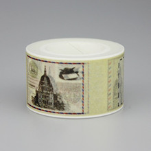 1 Pc / Pack New New Stamp Design 2.5cm*10m Paper Sticky Adhesive Sticker Decorative Washi Tape