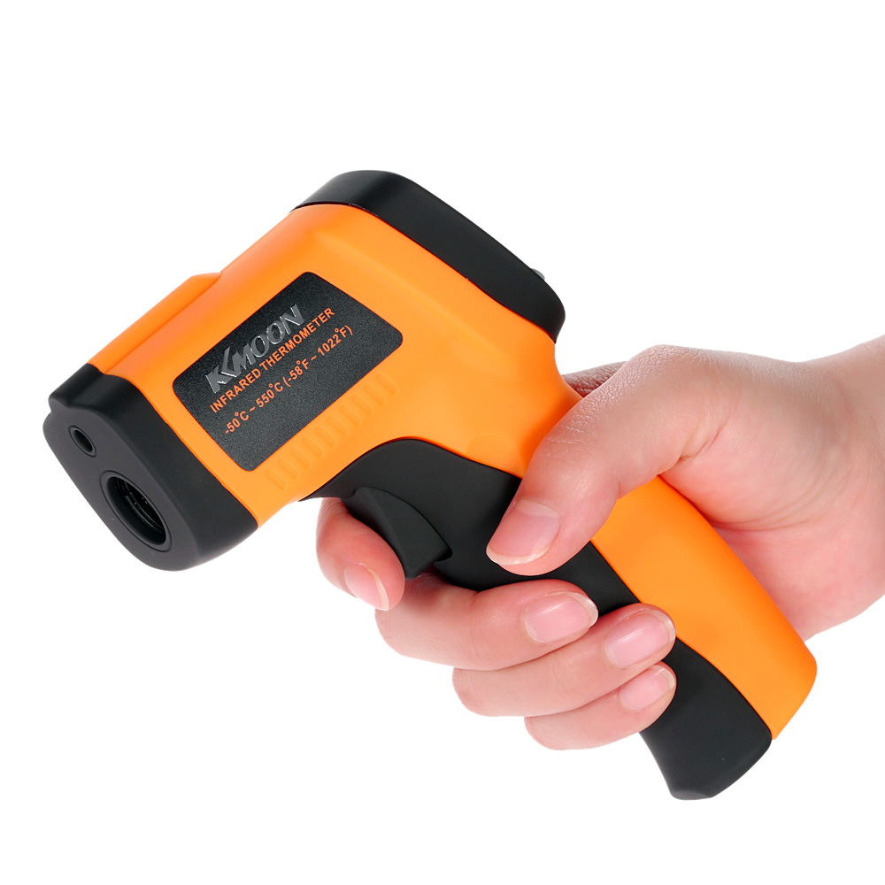 KKMOON LCD Digital -50 To 550 Degree Non-Contact Industrial Pyrometer Laser IR Point Infrared Temperature Thermometer Tester Gun(China (Mainland))