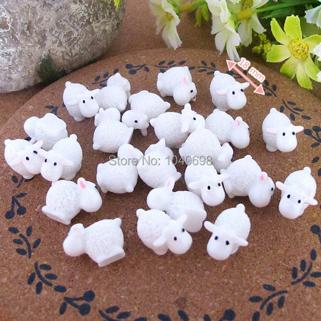 20pcs/lot free shipping mini solid Sheep 18mm solid resin kawaii crafts DIY(China (Mainland))