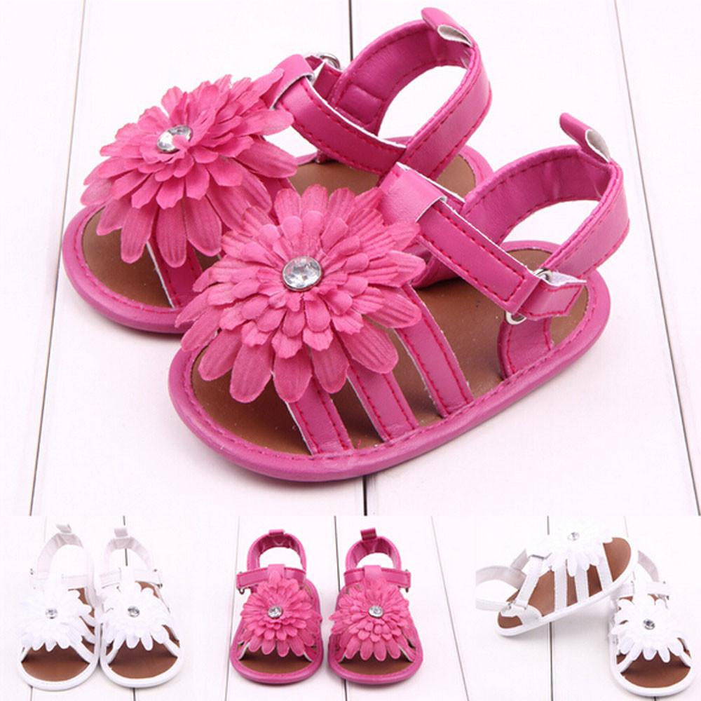 Toddler Kids Baby Solid Chrysanthemum Flower Sandals Newborn Shoes(China (Mainland))