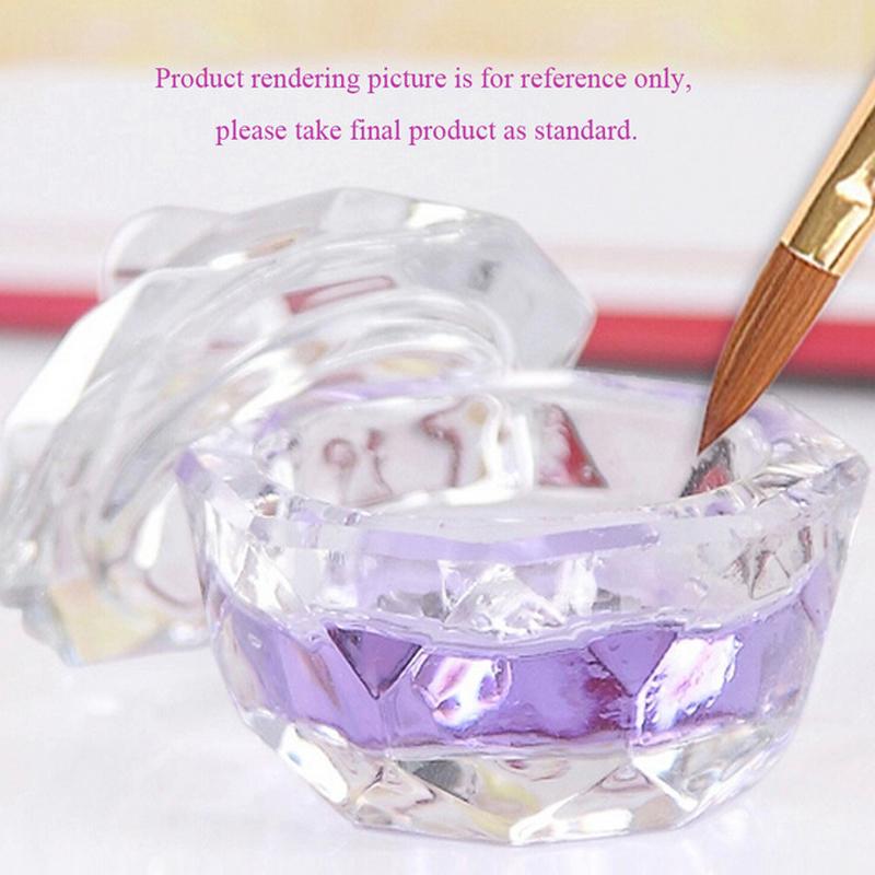 Nail Tools Crystal Glass Dappen Dish Cup Nail Art Acrylic Liquid makeup Powder Nail styling tool nail dust collector(China (Mainland))