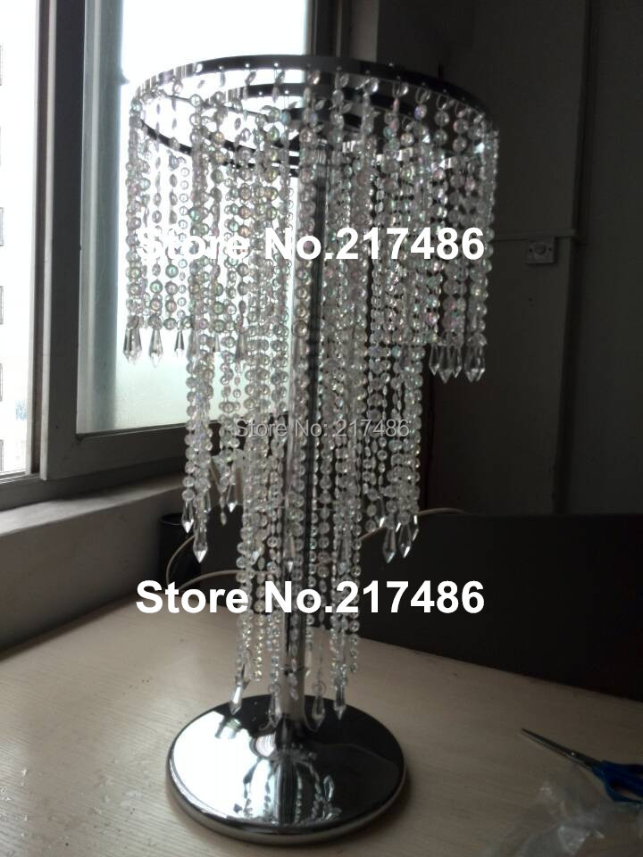 Beautiful cheap and amazing tall wedding table crystal