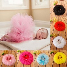 All The Way Around Baby Tutu Bloomer Diaper Cover with Satin Bow Little Girls Photo Props Newborn Tutu Skirts 1pc TS029(China (Mainland))
