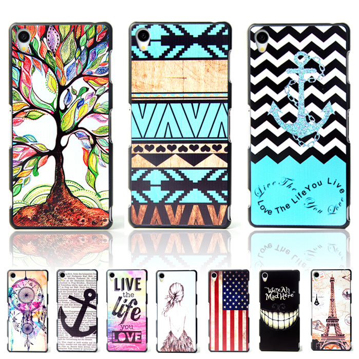 Brand Ultra Thin Cartoon Pattern Matte Hard Back Case for SONY Xperia Z1 L39H C6902 C6903 C6906 Cell Phone Protective Cover Bags(China (Mainland))