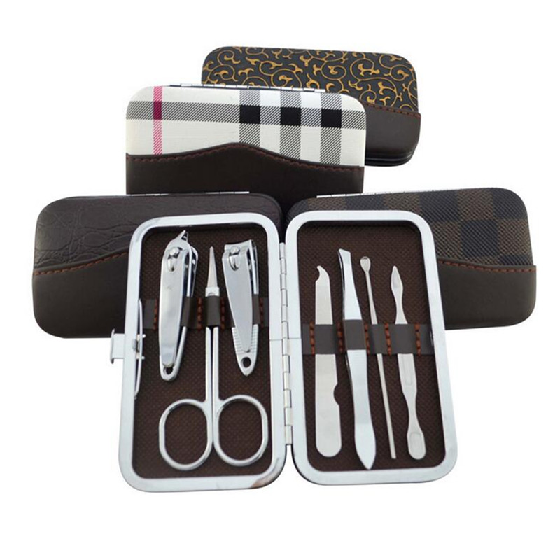 2016 New sale Files suit nail clippers 7 sets of nail tool sets nail set manicure kit manicure set free shipping SS-S561(China (Mainland))