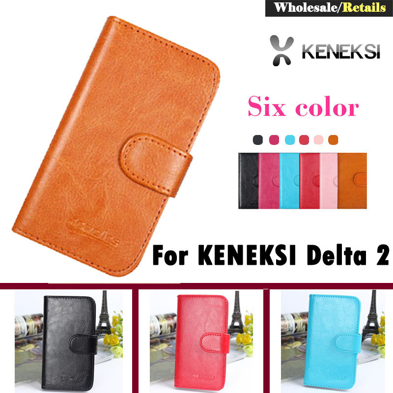 Luxury Stand Wallet Customize Designer Leather Case For KENEKSI Delta 2 Smart Phone Bag Cover Retro Vintage Book(China (Mainland))