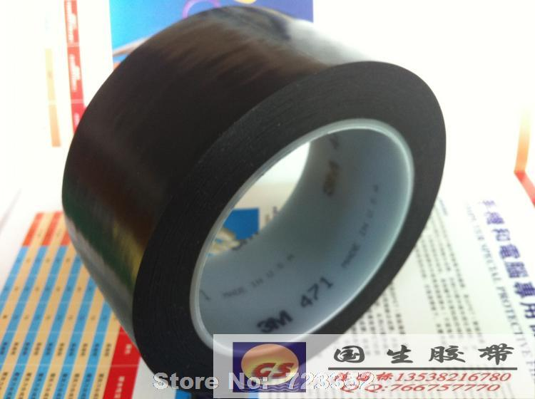 3M 471 black ground marking tape warning tape safe plastic color emulsion 10mm*33M width is arbitrary(China (Mainland))
