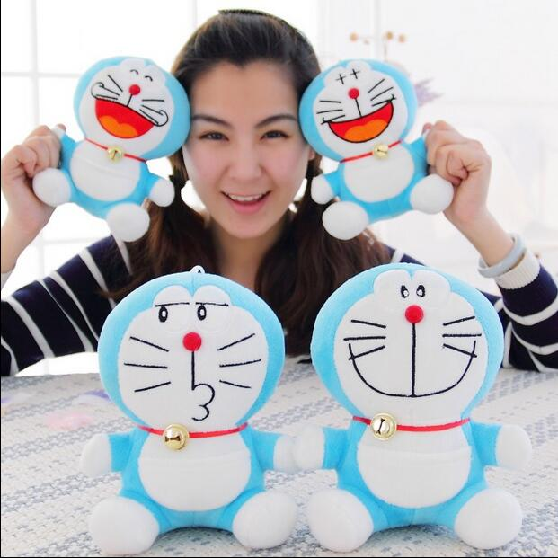 "Free Shipping Sitting height 1pcs 8"" 20cm Doraemon Plush Toys Cute Japanese anime Doraemon Cat Plush Toys For Children's Gift(China (Mainland))"