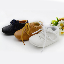 New British Style Baby Kids Shoes Infant Toddler Leather Shoes Prewalker(China (Mainland))