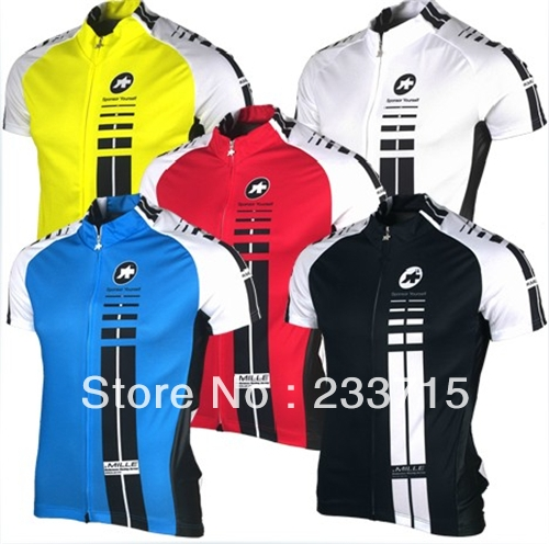 assos 2015 Free shipping! spring summer 5 styles 2015 short sleeve cycling jersey(China (Mainland))