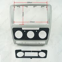 Car Refitting DVD frame,Dash Kit,DVD Fascia,Audio frame For Skoda Octavia(2010~2013) Auto/Manual A/C silver(China (Mainland))