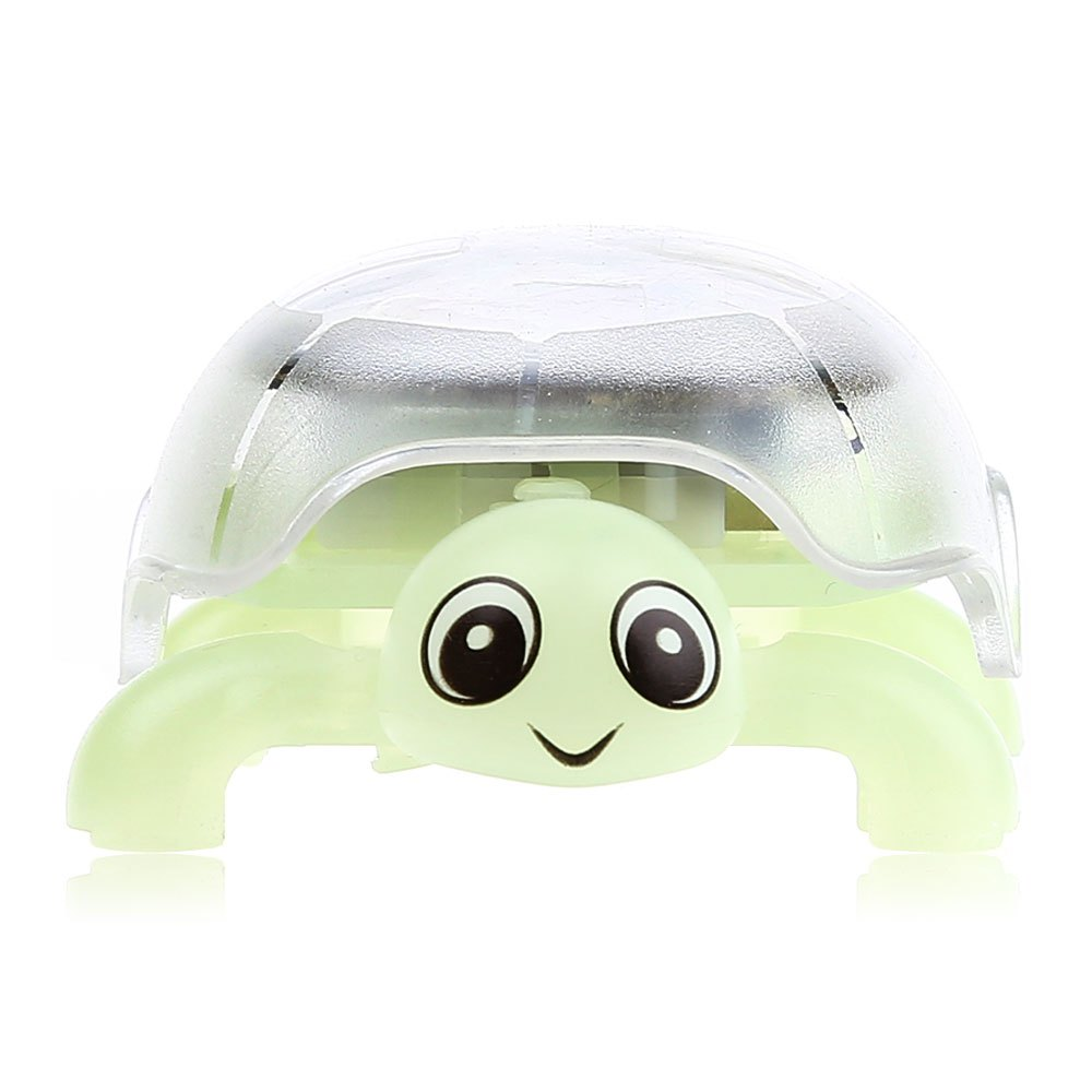 Light Green Crystal Solar Energy Mini Tortoise Toy Eco-friendly Festival Gift for Kids Bedroom Decoration(China (Mainland))