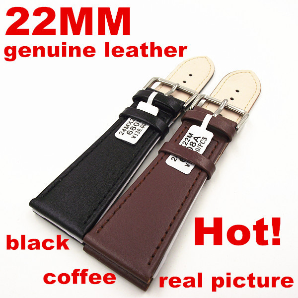 2PCS High quality 22MM 100% genuine leather Watch strap watch bands black ,coffee available-0208014<br><br>Aliexpress