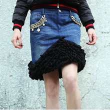 New 2015 women girl winter european fashion sexy skirt slim hip warm skirt one step mini Skirts D5155