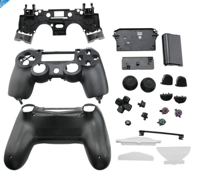 New 2015 Black Full Replacement Parts Housing Shell Case Button Kit for PlayStation4 PS4 Wireless Controller