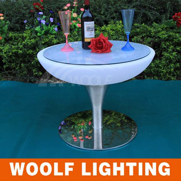 Led lighted cocktail tables/round party tables/hotel lobby round tables(China (Mainland))