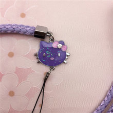 Color hand-woven lanyard phone pendant cartoon PU glitter Epoxy knit halter long rope mobile phone chain Free Shipping(China (Mainland))