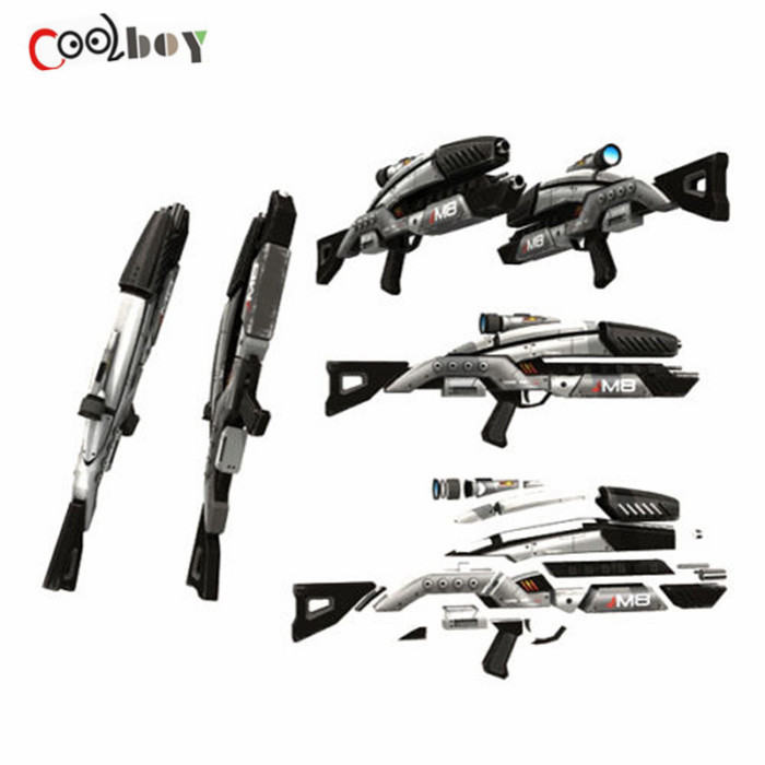 1:1 Scale 3D Paper Gun Model Building Kit For Mass Effect M8 Rifle DIY Toy Papercraft Cosplay Gift Kids' Adults' Gun Weapons(China (Mainland))