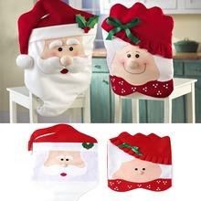 L109 1 par encantador Mr & Mrs navidad de Santa Claus comedor cubierta de la silla Home Party Decor(China (Mainland))