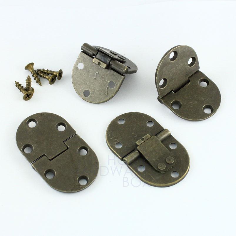4 pcs flap hinge folding table extension flush mount bronze self lock 90 degrees(China (Mainland))