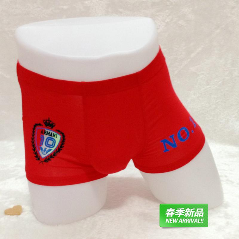 218 full shipping two men from the grant to support mixed batch printing waist modal boxer underwear shorts M(China (Mainland))