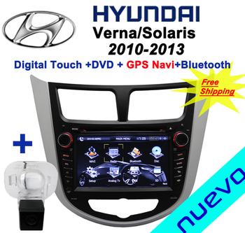 Free Shipping:Hyundai Verna DVD Verna Solaris DVD with GPS Navigation(2010-2013)+Rear Camera back