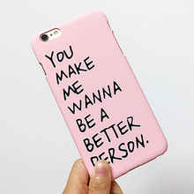 Buy Fashion Funda Letter Case Hard PC Cover Capa Para Carcasas Coque Funda iPhone 5S Case iphone 5 5S 6 6S Plus Phone Cases for $1.77 in AliExpress store