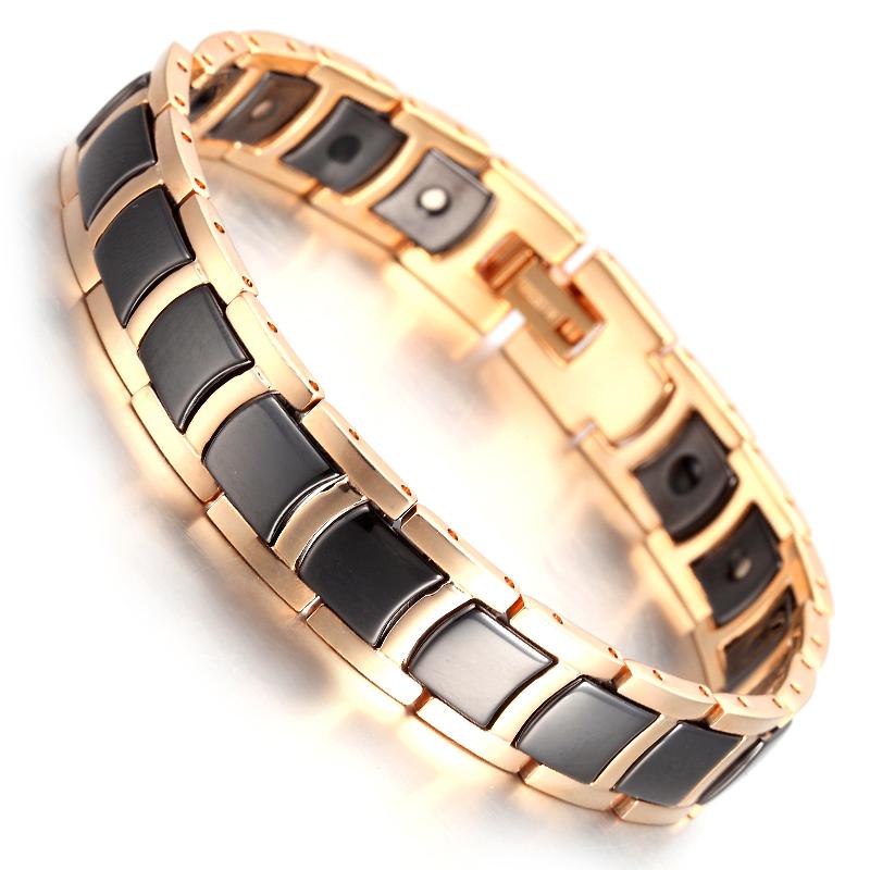 Tungsten Magnetic Hematite Mens Bracelet 8 2 B1372