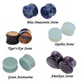 New 10pieces 5 Styles Ear Plug Body piercing Jewelry Organic Stone Ear Plugs Saddle Flared Tunnels