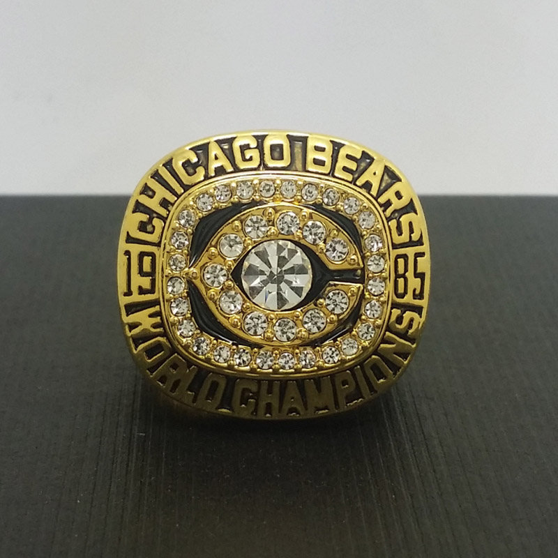 NFL 1985 Chicago Bears Football Super Bowl World Championship Ring 11Size 'Perry' Fans Solid Back Gift Collection - ring store