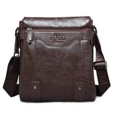 Nuova promozione marche famose in vera pelle polo uomini borsa messenger borse vintage spalla borsa per portatile valigetta degli uomini borsa V6G52(China (Mainland))