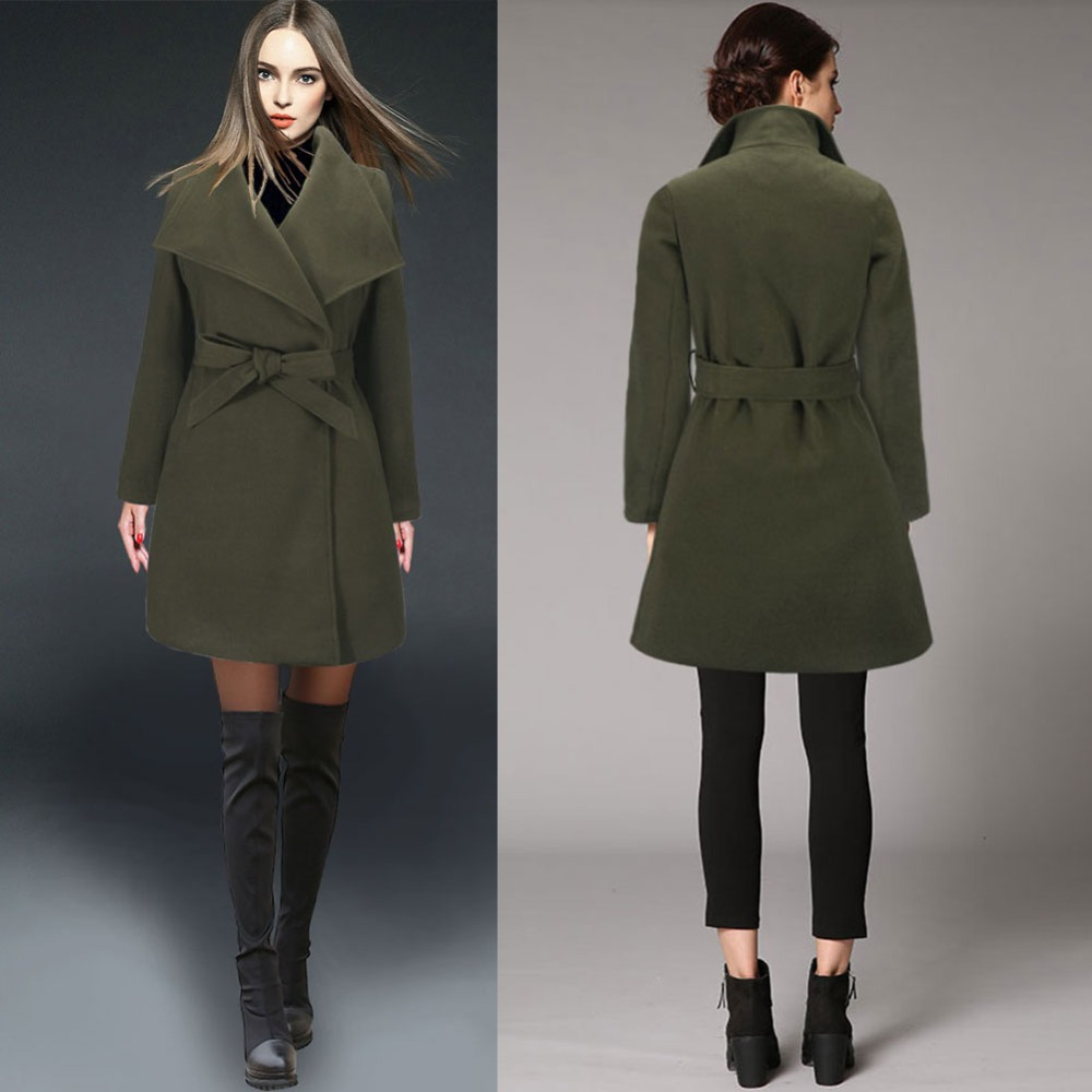 Green Wool Coats For Women - Sm Coats