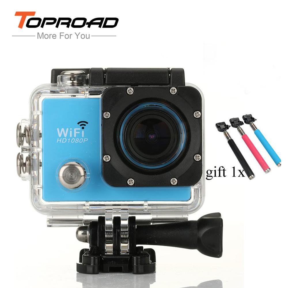 "Mini Camcorders WiFi 2.0"" LCD 14MP 1080P FHD H.264 Sports HD DV DVR Diving 30m Helmet Cam Gift 1x Selfie Sticks SJ9000(China (Mainland))"