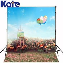 150*200cm(5ft*6.5ft) photography backdrops fond studio photo Children's Sketchpad mushrooms background balloon