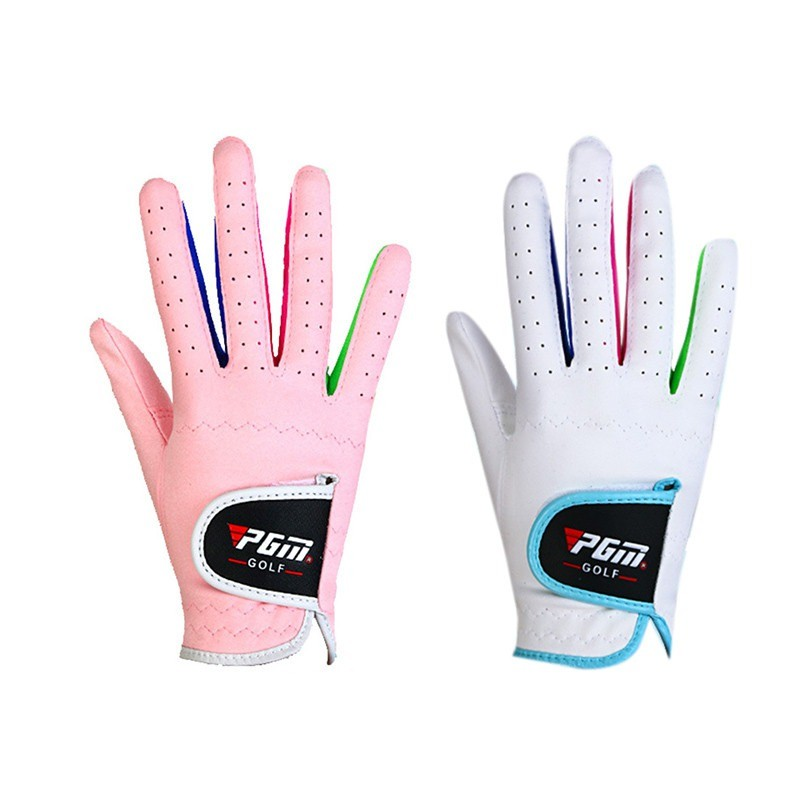 1 Pairs New Arrival Bebe Boys Girls Outdoor Sport Superfine Fiber Cloth Golf Gloves Breathable Anti-slipping Gloves 2 Colors