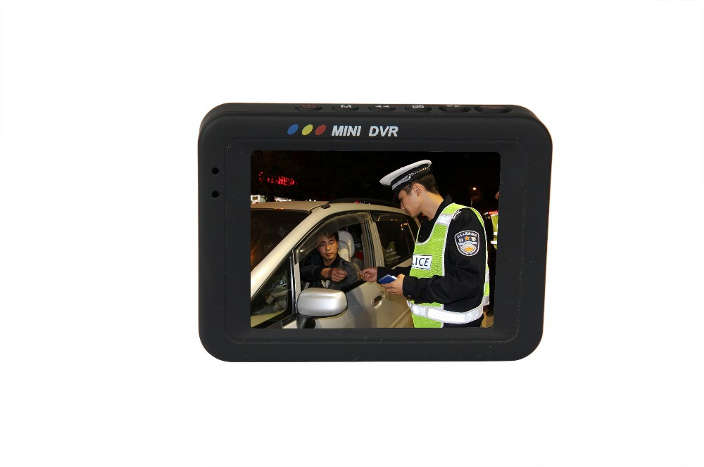 original HD-608 Mini Portable MPEG-4 DVR with 3 inch display law enforcement cmeras for collecting evdence free shipping(China (Mainland))