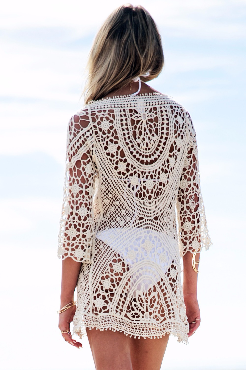 acheter hot mode t crochet plage cover up robe sexy maillot de bain cover up. Black Bedroom Furniture Sets. Home Design Ideas