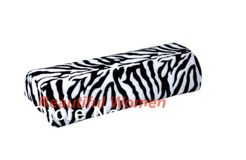 5set/lot New Zebra Stripe Soft Hand Cushion Pillow Rest for Nail Art Manicure Half Column Free Shipping 4905 3F