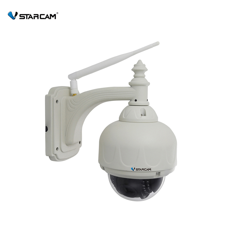 VStarcam Wireless PTZ Dome IP Camera Outdoor 720P HD 4X Zoom CCTV Security Video Network Surveillance IP Camera Wifi(China (Mainland))
