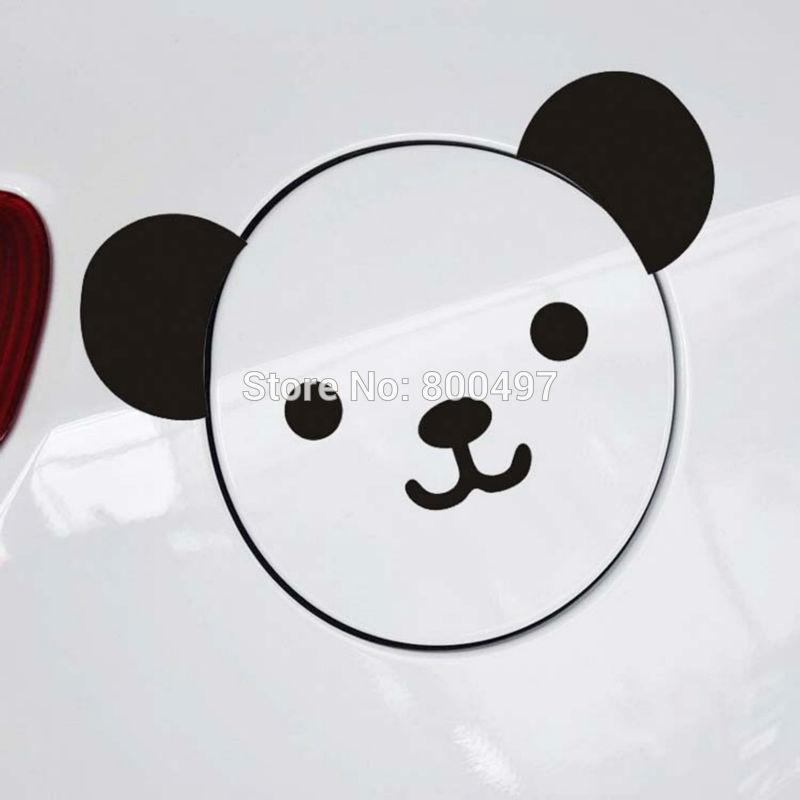Creative Design Car Sticker Lovely Cartoon Bear Panda Car Covers for Toyota Volkswagen Chevrolet Ford Fiat BMW Honda Renault Kia(China (Mainland))