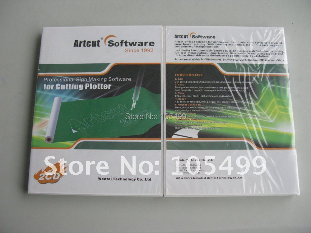 ARTCUT 2009 Pro Software for Sign Vinyl plotter Cutting 9 Languages(China (Mainland))