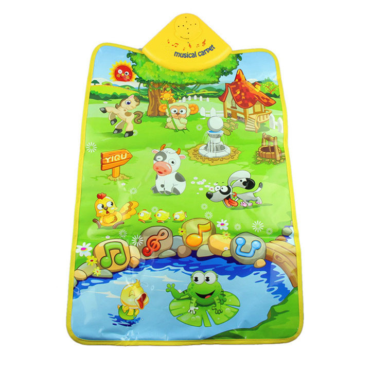 Delicate Music Sound Farm Animal Kids Baby Play Playing Mat Carpet Playmat Gym Toy Hot Selling norflr(China (Mainland))