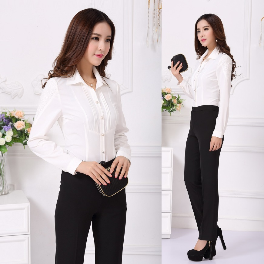 Ladies office uniform designs women suits with pant and for Office uniform design 2015