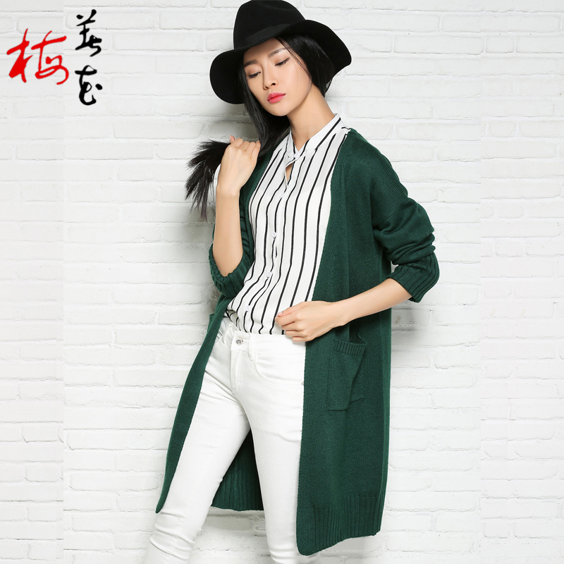 Winter Knitted Women Long Cardigans 2016 Cashmere Cardigan Femme ...
