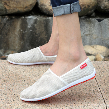 Men Flats 2015 Hot-selling Men's Fashion Slip-on Hemp Summer Autumn Shoes Male Casual Breathable High Quality Shoes MXR014