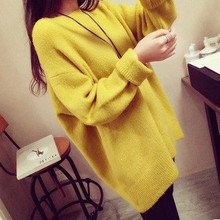 Free Shipping 2015 European and American fashion 2015 winter new e long-sleeved pullover sweater large size  women MTQ046(China (Mainland))