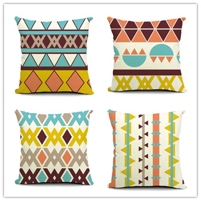 2015 Fresh Style Fashion <font><b>Bohemian</b></font> Geometric Printed Pillow Bed Sofa <font><b>Home</b></font> <font><b>Decorative</b></font> Throw Pillow Fundas Para Almofadas Cojines