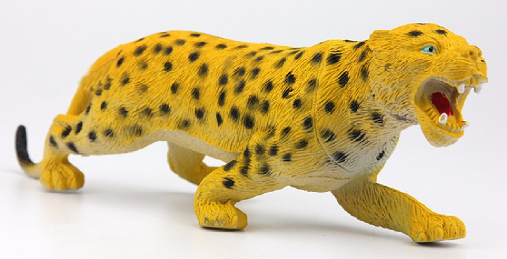 leopard Wild Animal toys Action Figures Model PVC plastic Boys Collections Toy Figure Children Gift(China (Mainland))