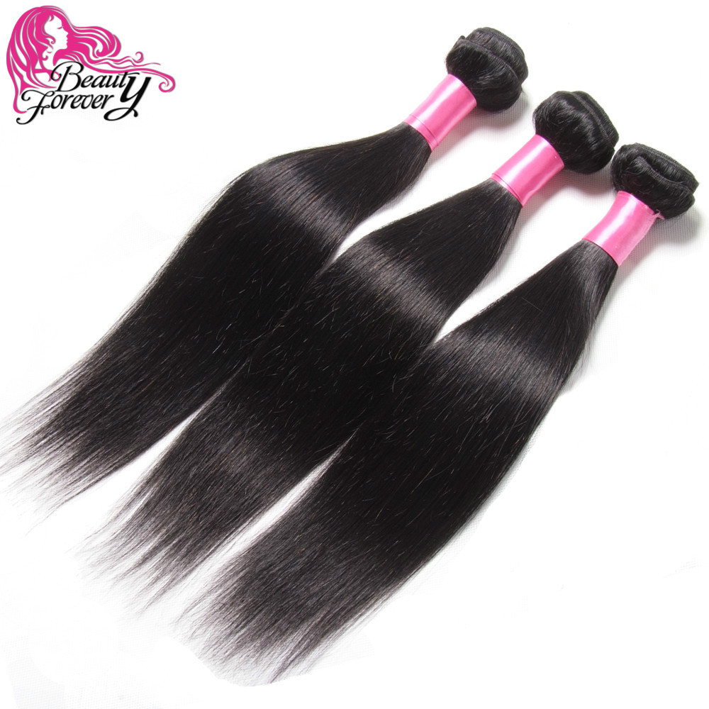 3pcs/lot Mix Length 6A Unprocessed Virgin Malaysian Hair Straight Human Hair Weaves Beauty Forever Malaysian Virgin Hair