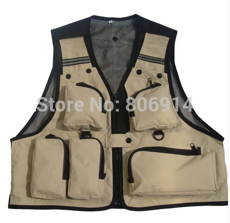 Free Shipping unisex multi-pocket multi-function advertising vest photography vest director vest fishing vest(China (Mainland))